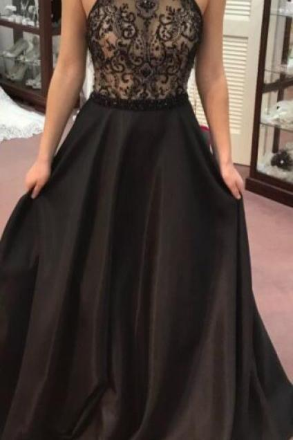 black Charming longdress see through dress Gorgeous Prom Dress,sexy Mermaid backless Grey Prom Dress Evening Dress