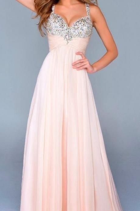 Outlet Purple Prom Dresses, Long Prom Dresses, Long Purple Prom Dresses With Beaded/Beading Floor-length Straps Sale Online