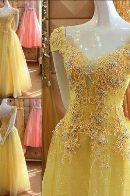Beaded A-Line Wedding Dresses , Backless Beading, V-Neck ,3D-Floral Appliques Wedding Dress Bridal Gown ,Sleeveless Evening Dresses ,Custom Made,Floor Length ,2018 New Fashion