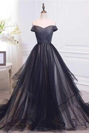 Charming Long Prom Dress,Off Shoulder Prom Dress,Evening Dress , Long Evening Dress, Charming Prom Dresses
